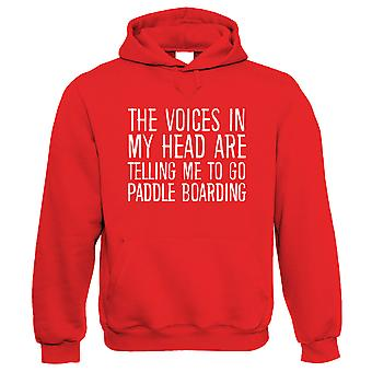 Voices In My Head Go Paddle Boarding, Funny Hoodie - Gift Him Her