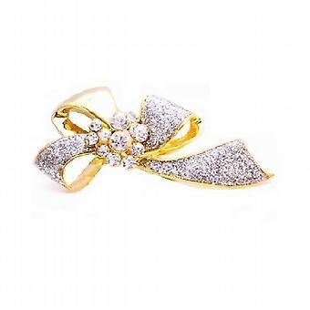 عرس اللباس بروش ديسينجيد القوس بروش الذهب مع بروش الماس