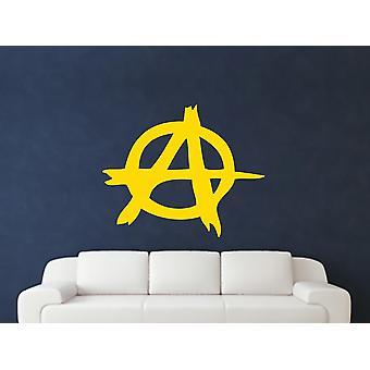 Anarchy Symbole Wall Art autocollants - Jaune foncé
