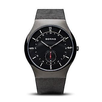 Bering tid 11940-222, menn armbåndsur kvarts rustfritt stål, svart