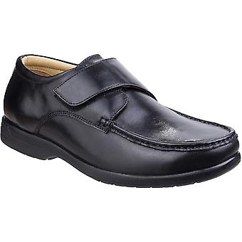 Fleet & Foster Mens Fred Dual Fit Touch Fastening Moccasin Shoes