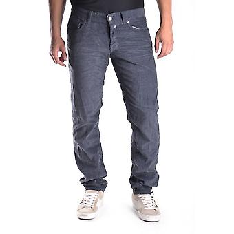 John Richmond Ezbc082004 Men's Grey Cotton Jeans