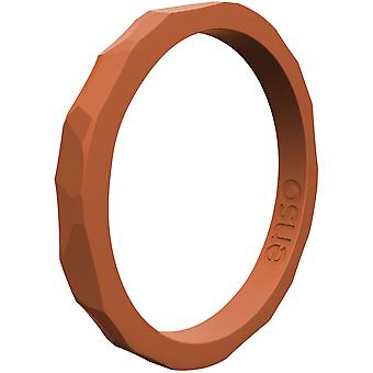 Enso Rings Hammered Stackables Series Silicone Ring - Burnt Orange