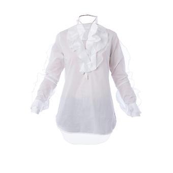 Ermanno Scervino D342k344mup10601 Women's White Cotton Shirt