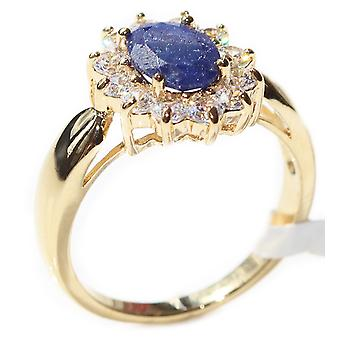Ah! Jewellery Precious Sapphire Gemstones Ring Gold Filled Stamped GL