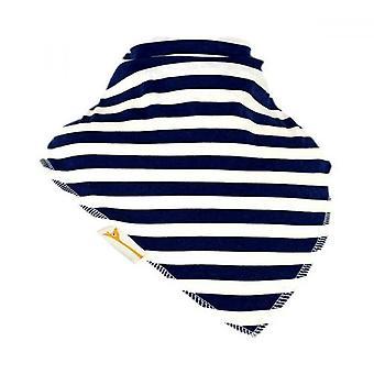 White & navy stripes xxl bandana bib