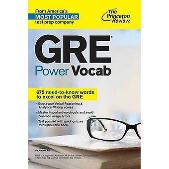GRE Power Vocab by Princeton Review - 9781101881767 Book