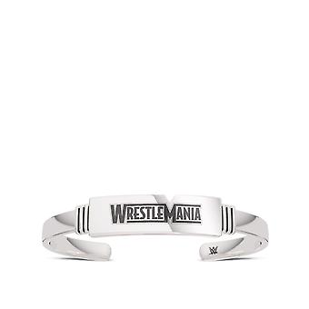 Pulsera Wrestle Mania Cuff en diseño de plata de ley por BIXLER