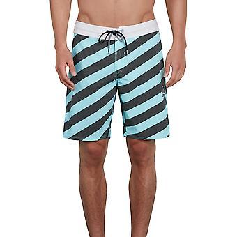 Volcom Stripey Stoney 19 Mid längd Boardshorts i Pale Aqua
