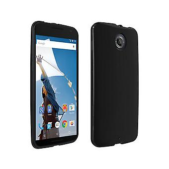 Verizon High Gloss silikonfodral för Google Nexus 6 - svart