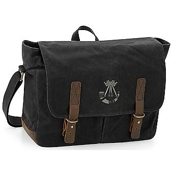 Somerset And Cornwall Light Infantry - Licensed British Army Embroidered Waxed Canvas Messenger Bag