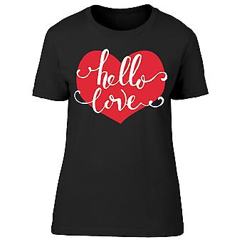 Hello Love Heart Tee Women's -Image by Shutterstock