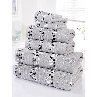 Spa 6 delige handdoek Bale zilver