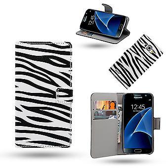 Samsung Galaxy S7 Edge geval/portemonnee in leer
