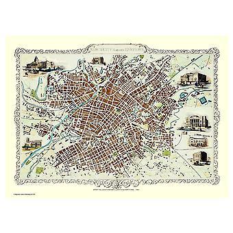 Historie Portal Manchester 1851 kart John Tallis 1000 stykke Jigsaw 690mm x 480mm (JG)