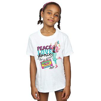 JoJo Сива Девушки Мир Любовь Танец футболка