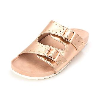 Bar III Womens Mealissa Open Toe Casual Slide Sandals