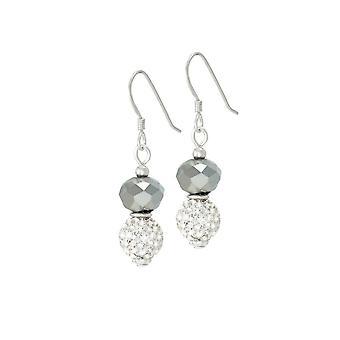 Eternal Collection Majestic Platinum Crystal Drop Pierced Earrings