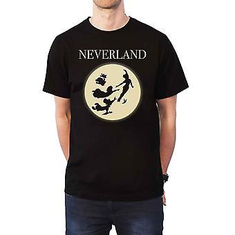 Peter-Pan-T-Shirt Neverland Silhouetten neue offizielle Disney Mens Black