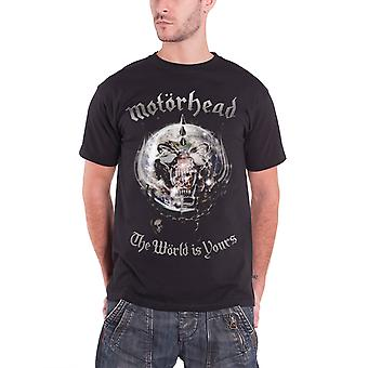 Motorhead The World is Yours Album Globe New Mens T Shirt