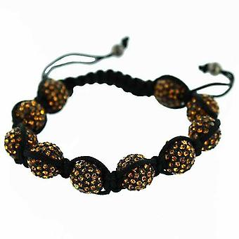 Pulsera Shamballa Orange Diamond Spark