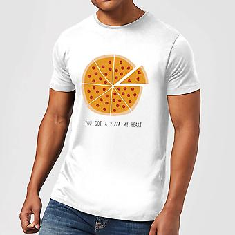 You Got A Pizza My Heart Men's T-Shirt - Blanco