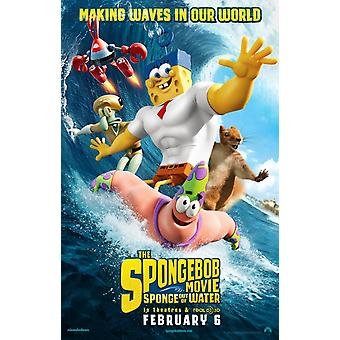 The Spongebob Movie Sponge Out Of Water Original Movie Poster Double Sided Advance Style