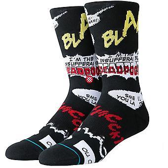 Stance Marvel Deadpool Blam Crew Socks en noir