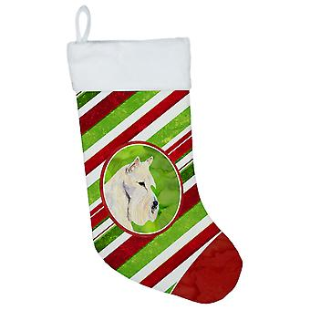 Skotsk Terrier vinter snefnug Christmas strømpe SS4599