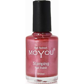 MoYou Stamping Nail Art Metallic Collection - Special Nail Polish - Crimson Sky 12ml