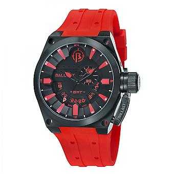 Ballast Red & Black Valiant Swiss Made GMT Watch