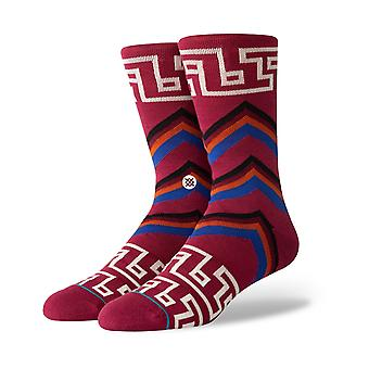 Stance Macao Crew Socks in Maroon