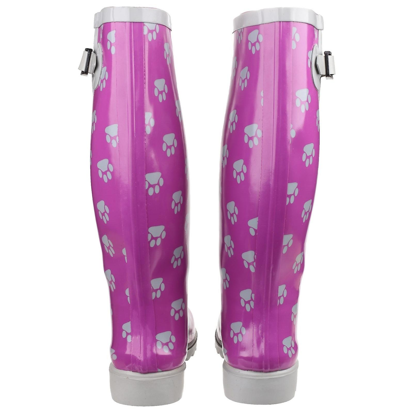 Cotswold Ladies Dog Paw Wellington / Womens Boots