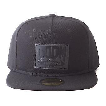 Doom Eternal Retro Patch Logo Snapback Baseball Cap Unisex Black (SB137010DOOM)