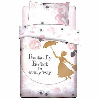 Disney Mary Poppins Perfect Panel Duvet Set Quilt Cover Bed Pillowcase Bedding 715450 Single