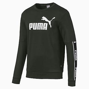 Puma Amplifié Fleece Crew Hommes Sweatshirt Jumper Khaki Green