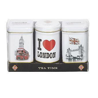 Eu amo Londres triplo chá seleção mini Gift Pack