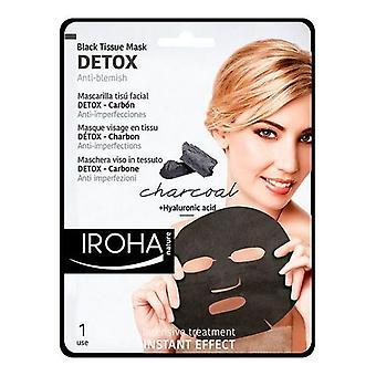 Ansiktsrengöring detox Charcoal svart Iroha