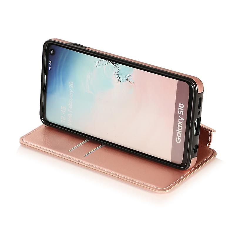CaseGate phone case case cover for Samsung Galaxy S10 case cover - magnetic clasp, stand function and card compartment