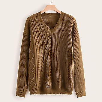 Plus ripped frayed hem sweater