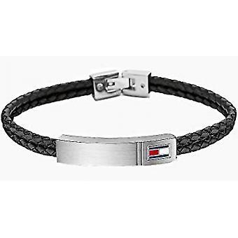 Bracelet Tommy Hilfiger Bijoux 2701010 - Bracelet Cuir Noir Homme