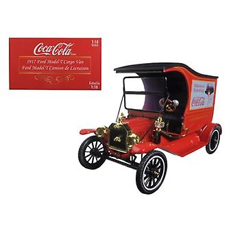 1917 Ford Model T Cargo Van Coca-Cola \Drink Delicious\ 1/18 Diecast Model Car By Motorcity Classics