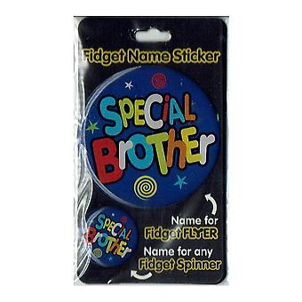 History & Heraldry Fidget Name Sticker Special Brother
