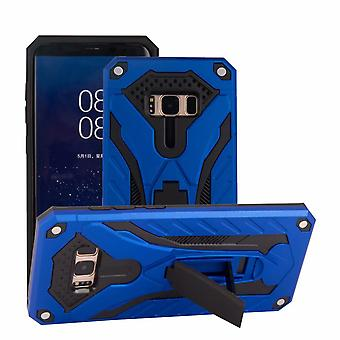 For Samsung Galaxy S8 Case, Armour Strong Shockproof Tough Cover Kickstand, Blue