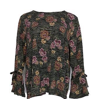 Style et Cie. Femmes plus Sweater Scoop Neck Long Sleeve Noir