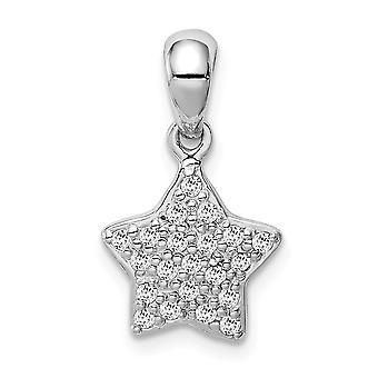 925 Sterling Silver Rhodium pläterade CZ Cubic Zirconia Simulerad Diamond Star Hängande Halsband Smycken Gåvor för kvinnor