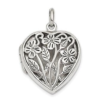 22mm 925 Sterling Silver Heart Locket Jewelry Gifts for Women - 5.6 Grams