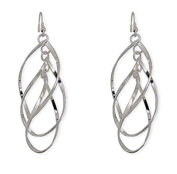 Silver Interlocked Swirl Earrings for Parties