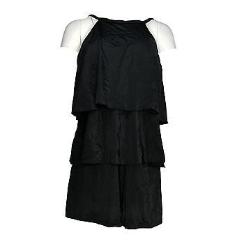 تناسب 4 U ملابس السباحة مرحبا الرقبة مزدوجة المستويات رومبر الأسود A298028