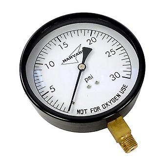 "American Granby IPG3045-4L 4.5"" Dial 0-30# Steel Case Dry Pressure Guage"